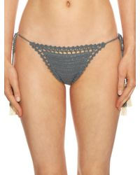 She Made Me - Blue Essential Mini Tie-side Bikini Briefs - Lyst
