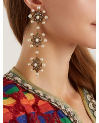 Gucci - Multicolor Pearl Drop Earrings - Lyst