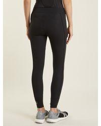 Adidas By Stella McCartney - Black Cropped Performance Leggings - Lyst