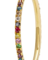 Ileana Makri - Metallic Multi-stone & Yelllow-gold Ring - Lyst