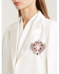 Givenchy - Pink Crystal-embellished Brooch - Lyst