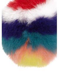 Fendi - Multicolor Bijou de sac pomme en shearling - Lyst