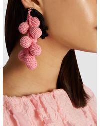 Rosie Assoulin - Pink Manishewitz Crochet Earring - Lyst