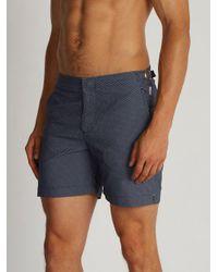 Orlebar Brown - Blue - Bulldog Jacquard Swim Shorts - Mens - Navy Multi for Men - Lyst