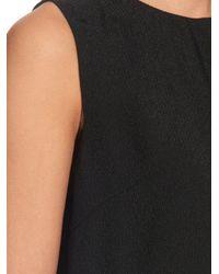 Raey - Black Side-Split Crepe Triangle Dress - Lyst