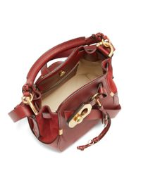 Chloé - Red Owen Small Leather And Suede Shoulder Bag - Lyst