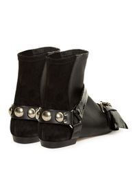 Isabel Marant - Black Reida Leather and Suede Ankle Boots - Lyst