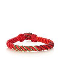 Aurelie Bidermann - Red Maya Bead-embellished Bracelet - Lyst