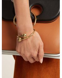 J.W. Anderson - Metallic Double-sphere Gold-plated Bangle - Lyst