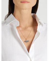 Ileana Makri - Metallic Sapphire, Apatite, Pearl & Rose-gold Necklace - Lyst
