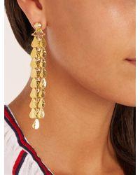 Sophia Kokosalaki - Metallic Gold Lunar Drop Chandelier Earrings - Lyst