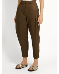 Rachel Comey - Multicolor Leonard Cotton-blend High-rise Tapered Trousers - Lyst