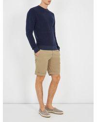 Orlebar Brown - Blue Pierce Navy Terry Sweatshirt - Size L for Men - Lyst