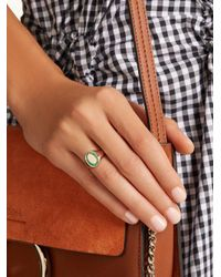 Jessica Biales - Green Emerald & Pink-gold Ring - Lyst