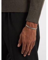 Miansai - Metallic Label Matte Sterling-silver Cuff for Men - Lyst