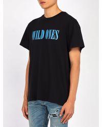 Amiri - Black T-shirt Wild Ones for Men - Lyst