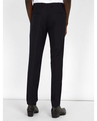 Raf Simons - Blue Slim Fit Wool Trousers for Men - Lyst