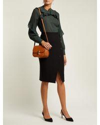 Cefinn - Black Buttoned Ponte Pencil Skirt - Lyst