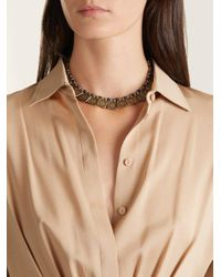 Etro - Metallic Floral-embossed Necklace - Lyst