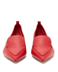 Nicholas Kirkwood - Red Beya Grained-leather Loafers - Lyst