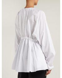 Jil Sander - White Fato Cotton Blouse - Lyst