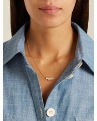 Azlee - Metallic White Light Diamond, Enamel & Yellow-gold Necklace - Lyst