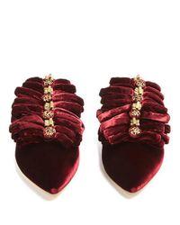 Sanayi 313 - Multicolor Drina Velvet Slipper Shoes - Lyst