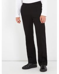 Givenchy - Black Mid-rise Straight-leg Neoprene Trousers for Men - Lyst