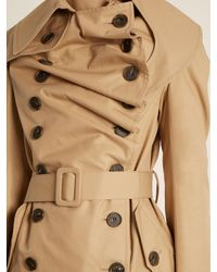 Awake - Natural Double-breasted Cotton Trench Coat - Lyst