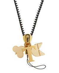 Chaos - Metallic T Gold-plated Charm - Lyst