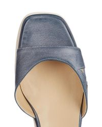 Stella McCartney | Blue Elyse Platform Sandals | Lyst