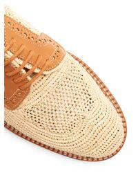 Clergerie - Multicolor Jeanine Lace-up Raffia Shoes - Lyst
