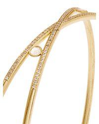 Susan Foster - Metallic Diamond & Yellow-gold Bangle - Lyst