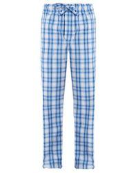 Derek Rose - Blue Ranga Checked Cotton Pyjama Trousers for Men - Lyst