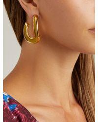 Marni - Green Open Hoop Enamel Earrings - Lyst