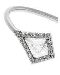 Susan Foster - Metallic Diamond Slice & White-gold Cuff - Lyst