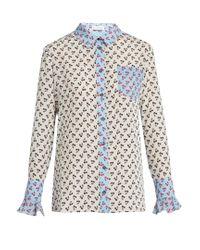 Altuzarra - Multicolor Clovis Cherry-print Silk Shirt - Lyst