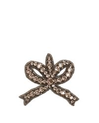 Gucci - Multicolor Bow Crystal-embellished Brooch - Lyst