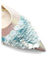 Delpozo - Multicolor Point-toe Sequin-embellished Slingback Flats - Lyst