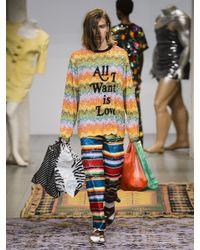 Ashish - Multicolor Striped Sequin-embellished Silk Top - Lyst