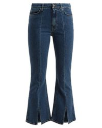 MiH Jeans Blue Marty High-rise Kick-flare Cropped Jeans