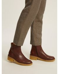A.P.C. - Brown Armelle Leather Ankle Boots for Men - Lyst