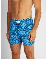 Frescobol Carioca - Blue Sports Angra Print Swim Shorts for Men - Lyst