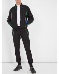 Cottweiler - Black Contrast-trim Nylon Track Jacket for Men - Lyst
