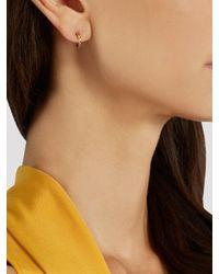 Ileana Makri - Metallic Diamond, Semi-precious Stone & Gold Earrings - Lyst