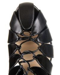 Francesco Russo - Black Cutaway Leather Ankle Boots - Lyst