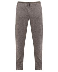 Zimmerli - Gray Jacquard Cotton And Silk-blend Jersey Trousers for Men - Lyst