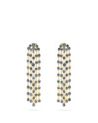 Oscar de la Renta | Blue Crystal-embellished Clip-on Earrings | Lyst