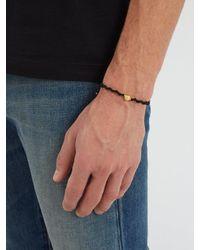 Black Dakini - Multicolor Gold-vermeil And Cord Bracelet for Men - Lyst