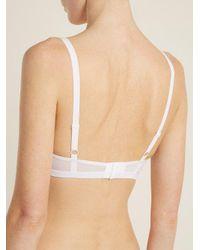 Negative Underwear - White Sieve Soft Cup Mesh Bra - Lyst